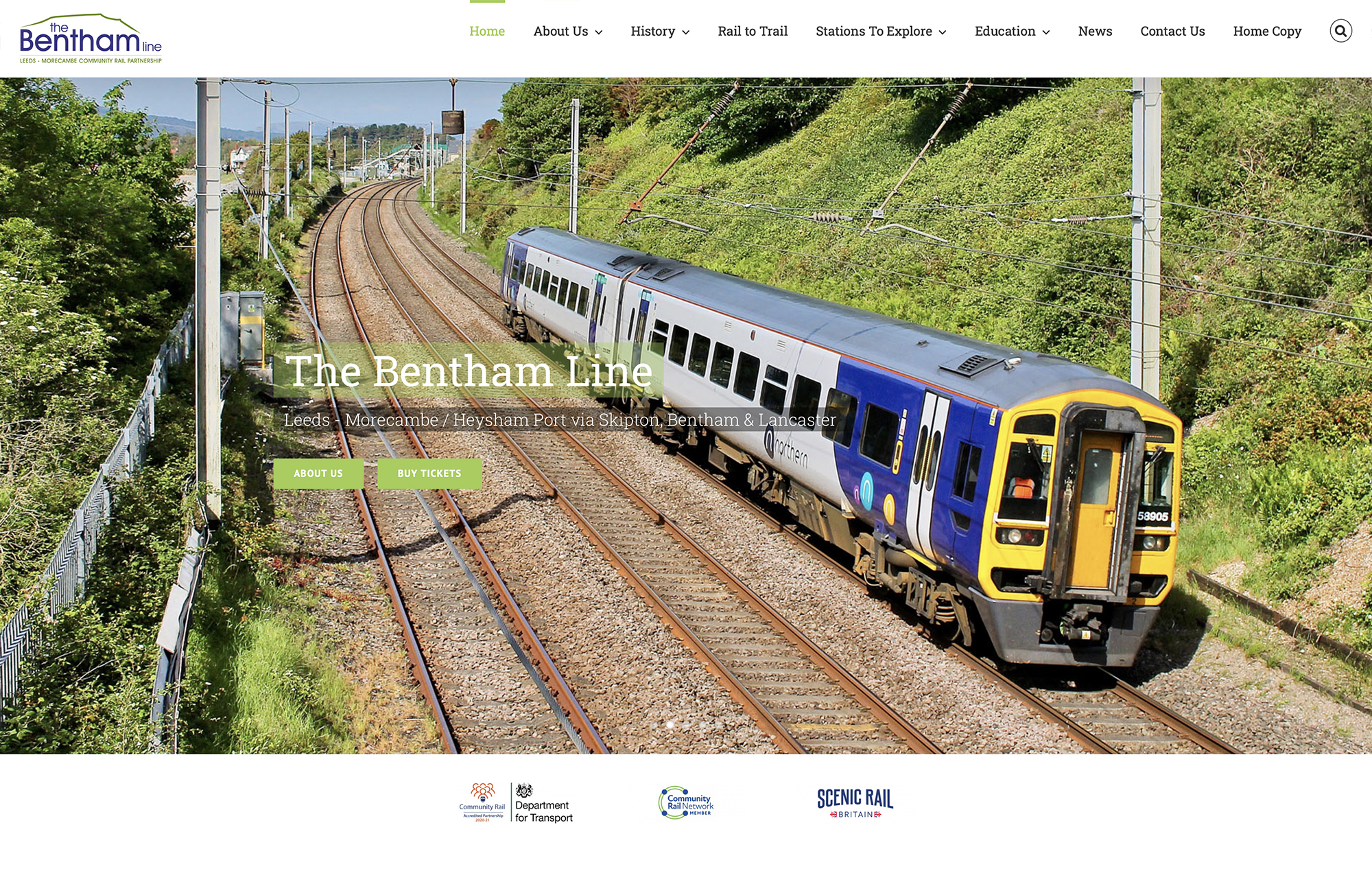 The Bentham Line website homepage
